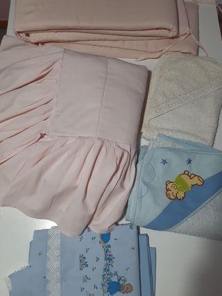 edredón protectores sábanas de cuna y dos toallas