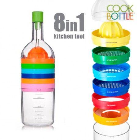 Cook Bottle 8 accessoires de cuisine en 1