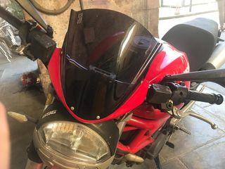 Carenado visera cúpula Ducati monster