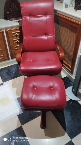 sillon con reposapies y masaje