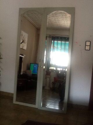 2 Puertas de armario con espejos