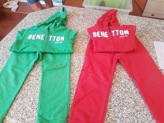 Chándal Benetton. Talla xs(4-5)