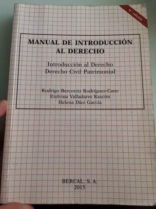 Manual d introducción al derecho civil patrimonial