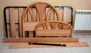 Estructura de cama con somier 90cm