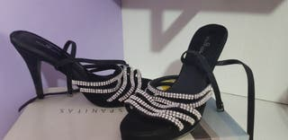 sandalias de fiesta negros