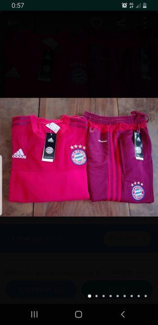 3 chandal - Real Madrid y Bayern Munich