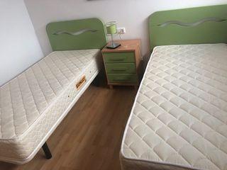 CAMA 90cm, cabecero + somier + colchón