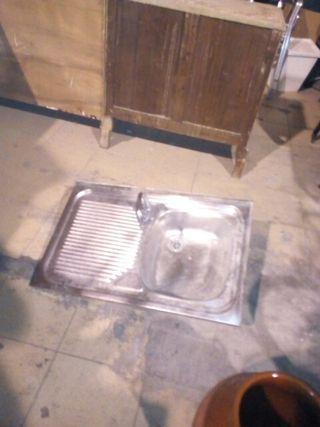 fregadero acero liquidación por falta espacio
