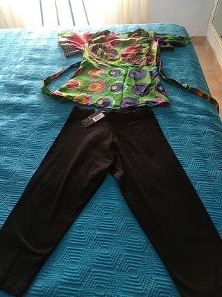pantalón y blusa desigual