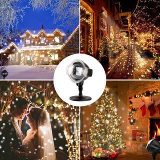 Proyector de Nieve Luces de Navidad