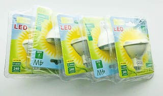 5 LED de techo, casquillo MR16, cálida
