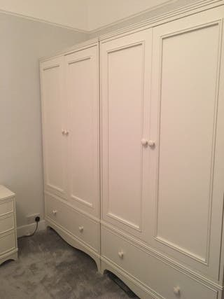 set of two Laura Ashley Broughton Ivory wardrobes