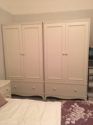 set of two Laura Ashley Broughton Ivory wardrobes