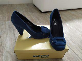 Zapatos de ante azules