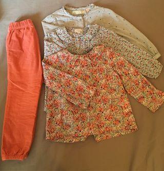 Ropa niña 18-24 meses, Blusas y pantalón GOCCO
