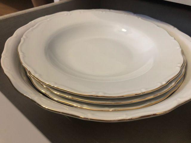 Vajilla blanca porcelana de gran calidad