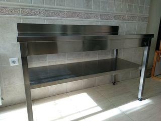 Mesa mural cocina acero inoxidable