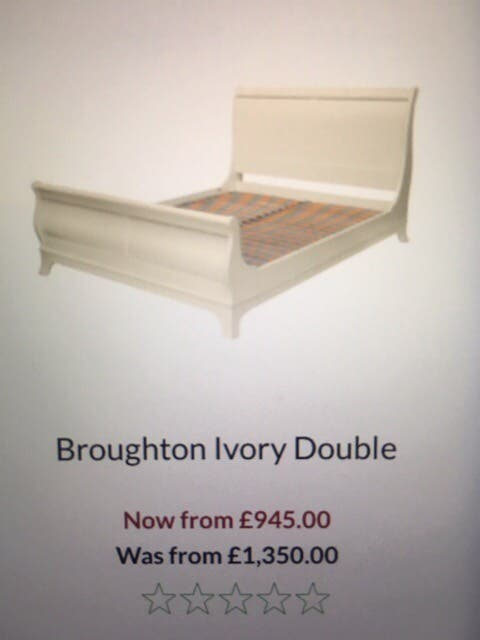 Laura Ashley Broughton Ivory double bed