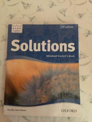 Libro de inglés. Solutions advanced student's book