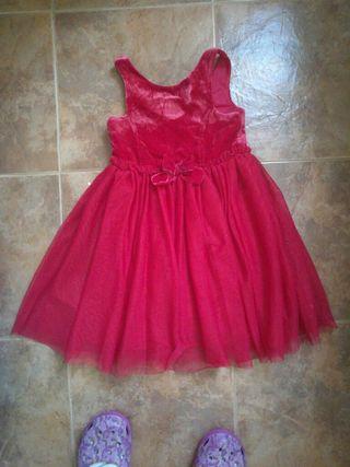 vestido rojo de tul