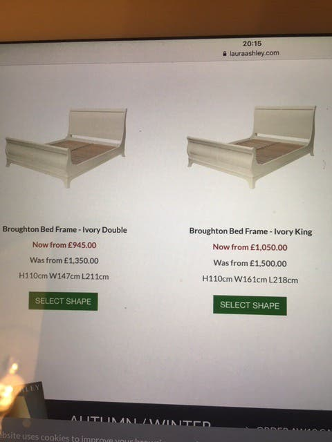 Laura Ashley Broughton Ivory King Bed