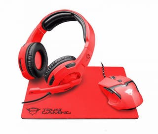 Pack Gaming Cascos, Ratón y Alfombrilla