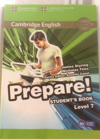 Libro inglés. Cambridge Prepare!