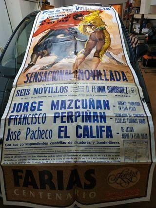 Cartel taurino antiguo plaza toros Valencia