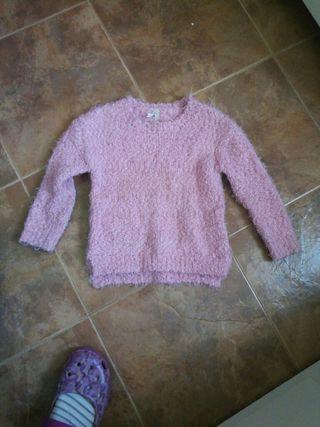 jersey calentito de lana rosa