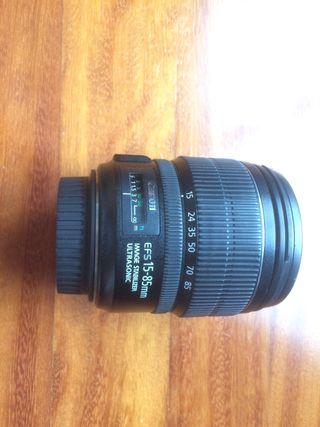 Canon 15-85, parasol y filtros