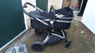 Black leather travel system
