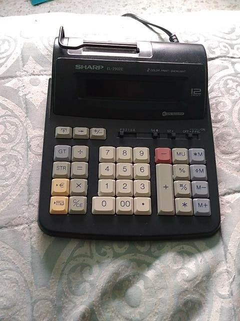 calculadora impresora sharp