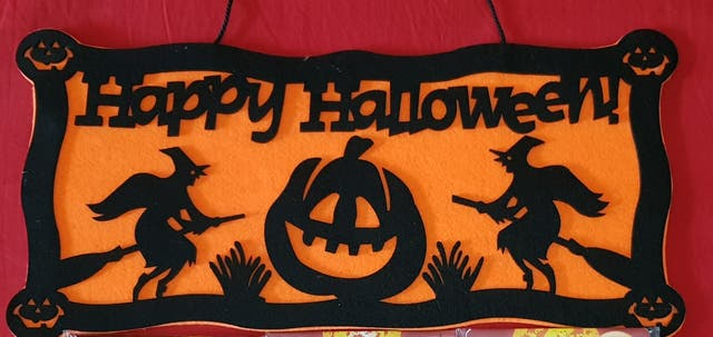 adorno puerta hallowen