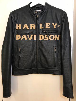 Cazadora cuero negro Harley Davidson