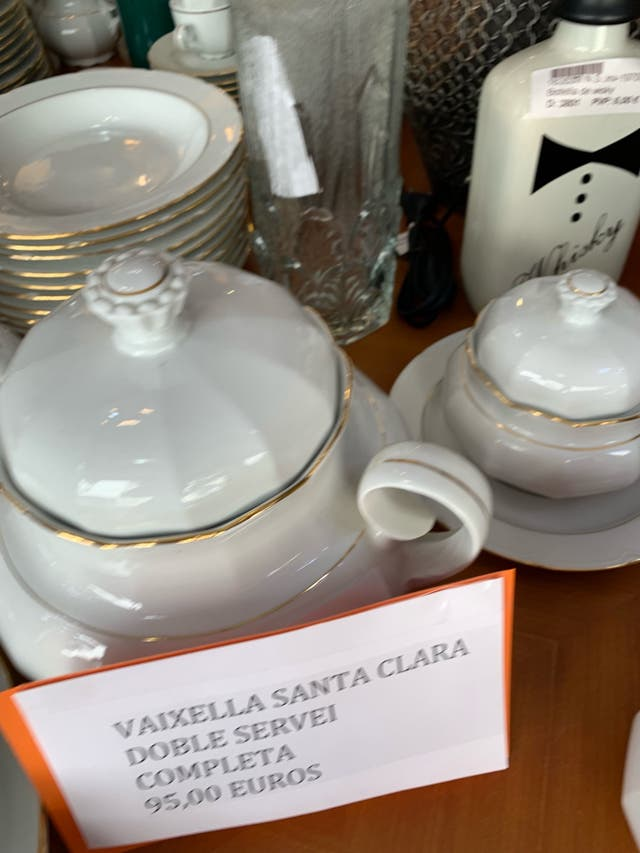 Vajilla Santa Clara