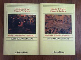 Libro historia de la música occidental I y II