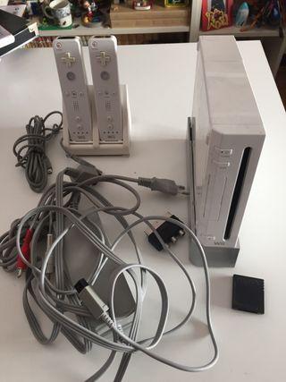 Pack wii +2 mandos+estación de recarga mando