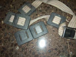 Cinturón buceo con 6 pesos.