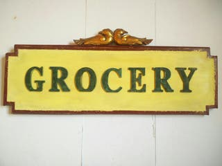 Cartel GROCERY Madera
