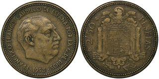 MONEDA 2.50 PESETAS 1953*19-54