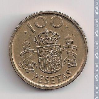 3 MONEDAS DE 100 PESETAS