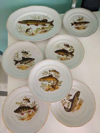 vajilla vintage pescado!!