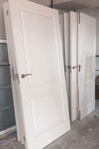 Puertas De Madera Lacadas en Blanco