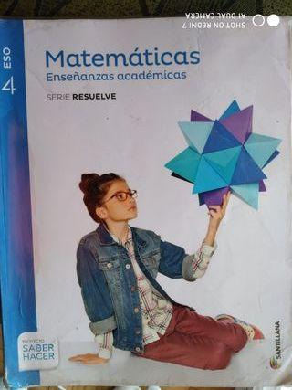 Matemáticas 4TO ESO (Secundaria Libro)