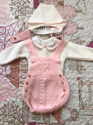 Conjunto de ranita,jersey y capota bebé talla 1 m