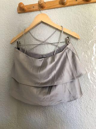Blusa gris de Zara