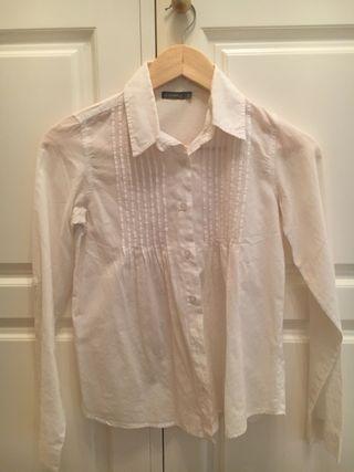 Blusa blanca de niña, talla 12