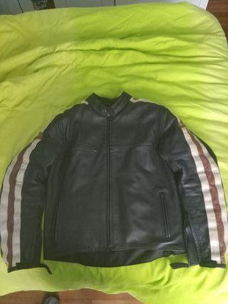chaqueta moto piel cuero t54