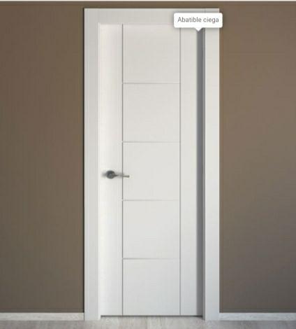 Puerta madera maciza blanca