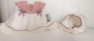 Vestido ceremonia bebé niña 6-9 meses